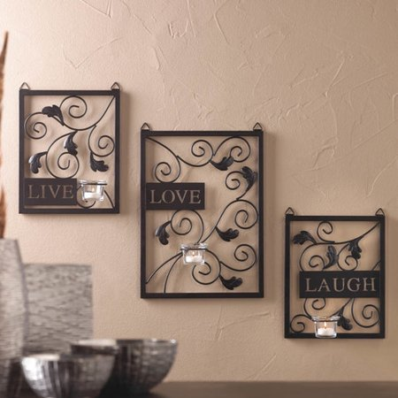 Zingz And Thingz Live Love Laugh Wall Decor  Set Of 3