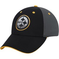 Men's Black/Charcoal Pittsburgh Steelers Blackball Gradient Adjustable Hat - OSFA