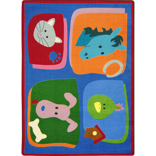 "Joy Carpets Kid Essentials - Infants & Toddlers My Favorite Animals, 3'10"" x 5'4"", Multicolored"