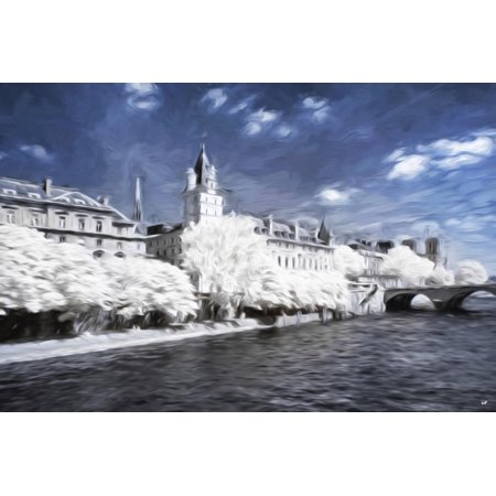 Paris Architecture - In the Style of Oil Painting Print Wall Art By Philippe