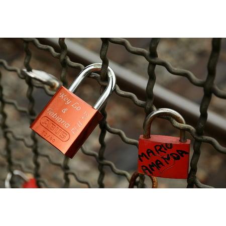 Framed Art for Your Wall Love Locks Padlocks Promise Castle Loyalty Love 10x13 Frame