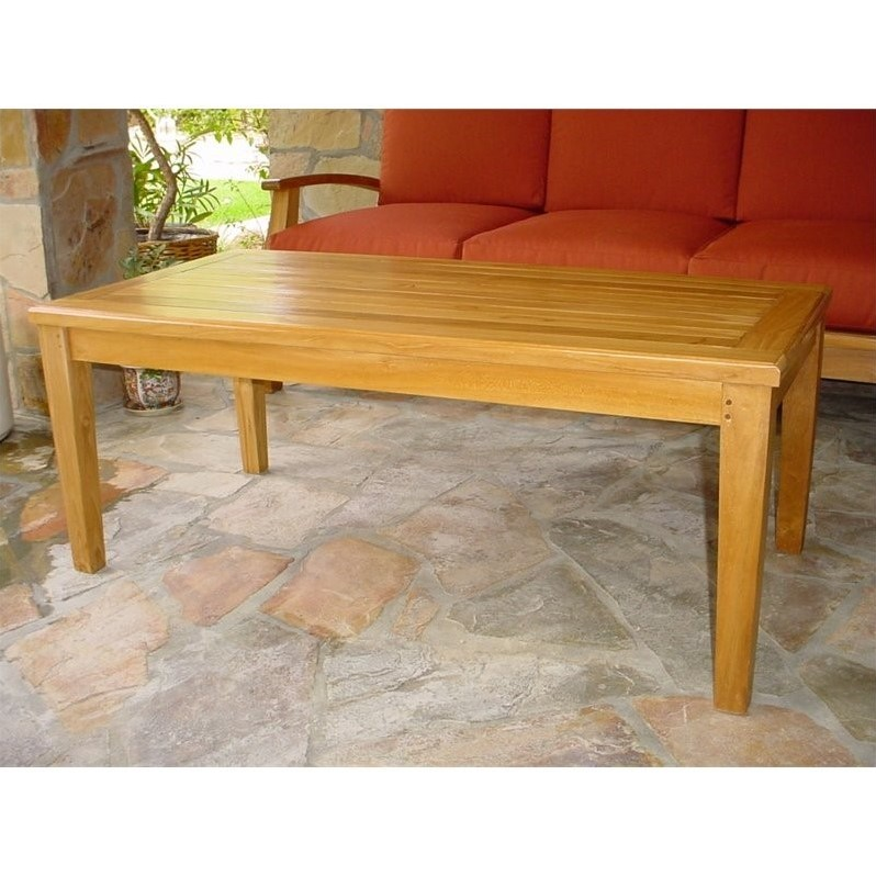Anderson Teak Brianna Outdoor Coffee Table by Anderson Teak