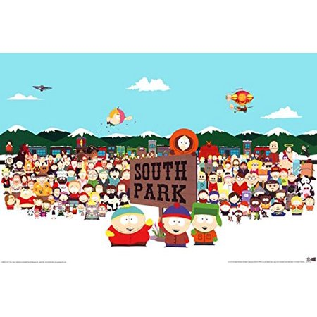 - South Park Cast 36x24 TV Art Print Poster Animation Characters Comedy Central