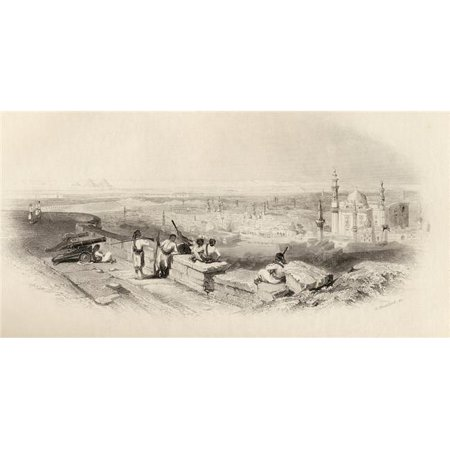 Posterazzi DPI1857166 Cairo & The Valley of The Nile Egypt From The Citadel Built by Saladin Engraved by E. Brandard Print, 20 x 10 - image 1 de 1