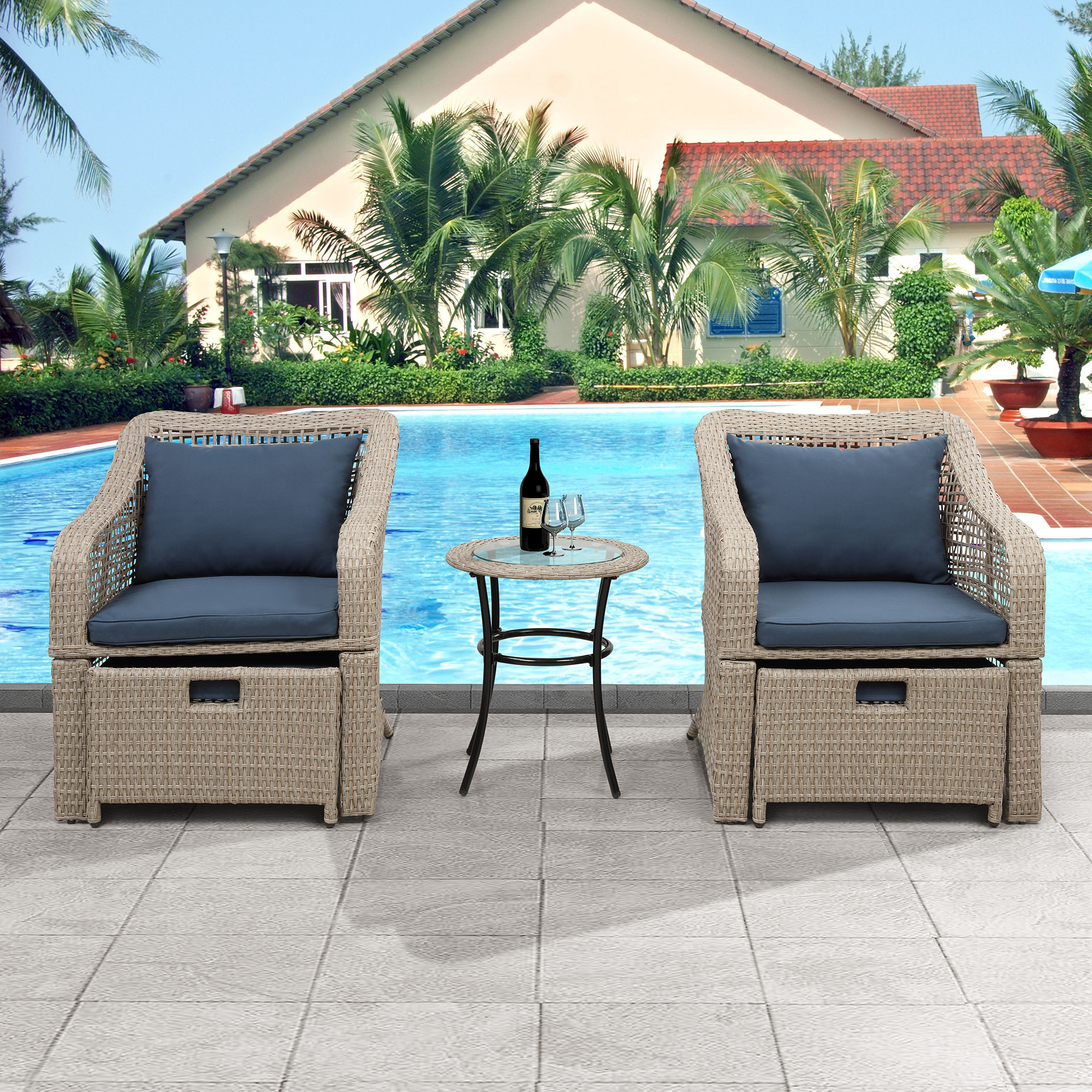 Patio Conversation Sets, 5 Piece Outdoor Furniture Set ...