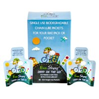 Eco Sheep SHEEP ON THE GO! - (8) Portable, Sheep Oil Based Biodegradable Bike Chain Lube Packets for All Bicycle Types- Packaged In Eco-Friendly Paper Packets. Always Have Bike Oil!