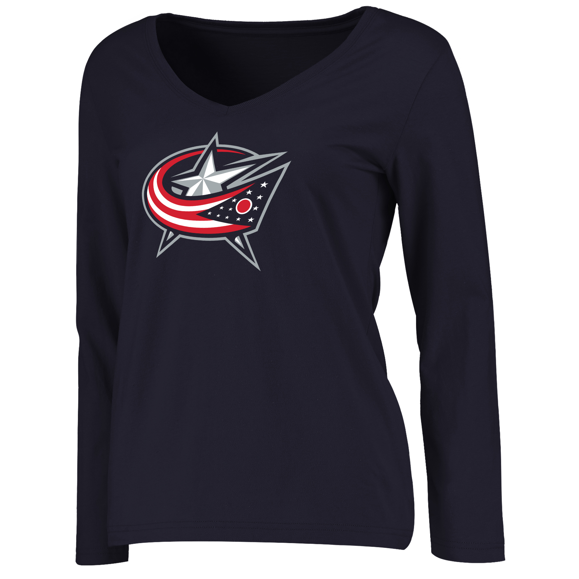 Columbus Blue Jackets Women's Primary Logo Long Sleeve T-Shirt - Navy