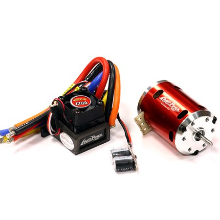 Brushless System (Integy RC Toy Model Hop-ups C24100 Sensored Brushless 120A System 13.5T 2500Kv Combo 2S-3S for 540 Size)