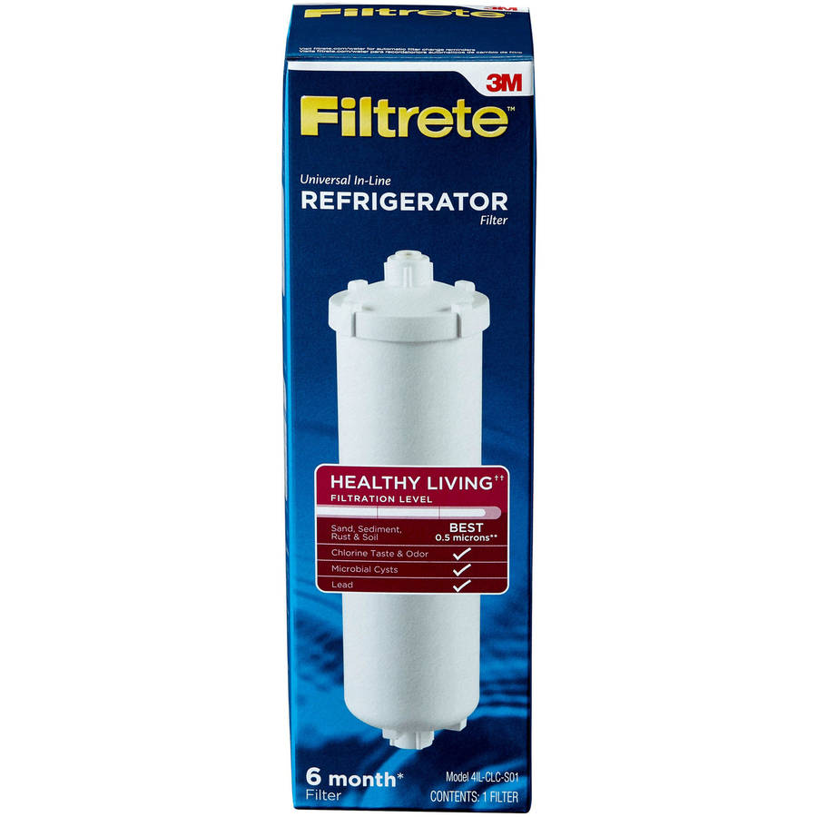 "Filtrete"" Universal In-Line Refrigerator Filter, Maximum Filtration (sediment, CTO, cysts, lead)"