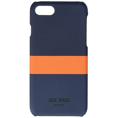 JACK SPADE Cell Phone Case for iPhone 7 Horizontal Stripe Navy