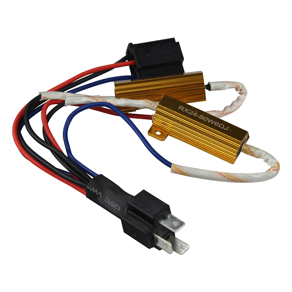 Street Vision SVCON2H4 H4 Plug N Play Interface Cable W 2 Resistors (Pair)
