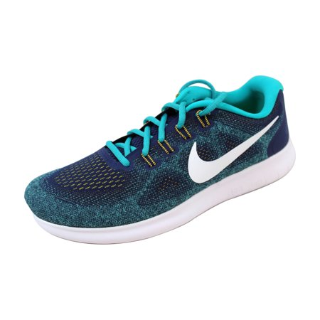 8a7facce1d43d Nike - Nike Men s Free RN 2017 Binary Blue White-Turbo Green 880839 ...