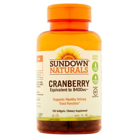 Sundown Naturals super canneberges Plus Vitamine D3 à base de plantes supplément Gélules, 150 count
