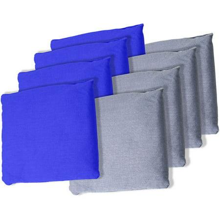 Championship Bag (Blue and Grey Championship Cornhole Bean Bags, Set of 8)