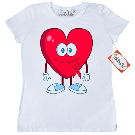 Inktastic Heart Health Awareness Month Womens T Shirt Disease February Congenital Walk Support Clothing Apparel Tees Adult