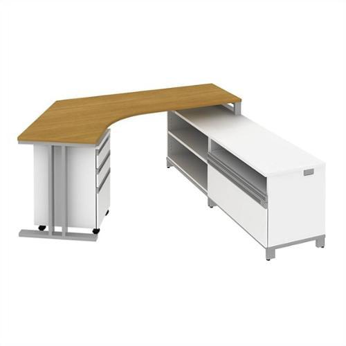 Dog Leg Desk Rh L Station With Storage, Dog Leg Desk