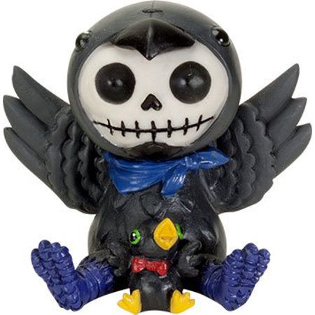 Ebros Furrybones Leopold The Raven Hooded Skeleton Monster Collectible Sculpture Decorative Toy