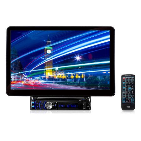pyle plsd131bt - 13 1'' motorized tft/lcd touch screen detachable display  dvd/