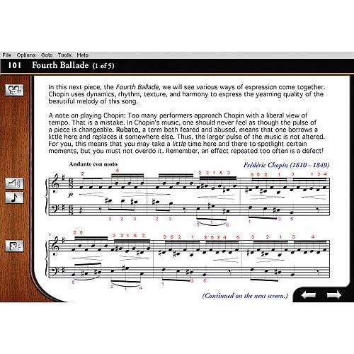 eMedia Intermediate Piano & Keyboard Method Instructional Software for Mac and PC
