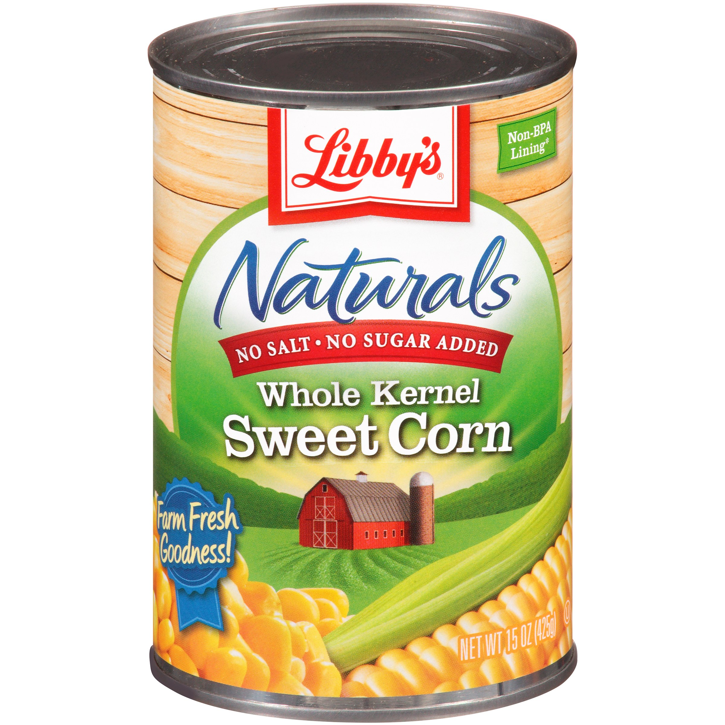 Libby's® Naturals No Salt & No Sugar Added Whole Kernel Sweet Corn 15 oz. Can