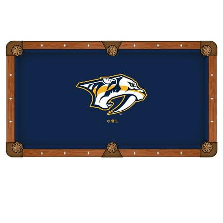 NHL 8' Pool Tablecloth by Holland Bar Stool Nashville Predators by