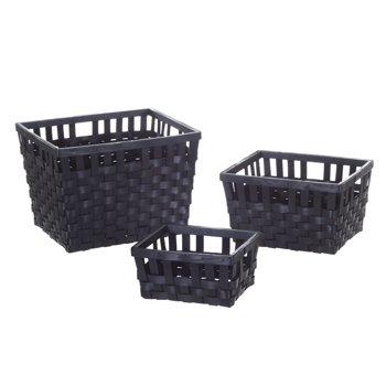 3-Piece Mainstays Woven Basket Set
