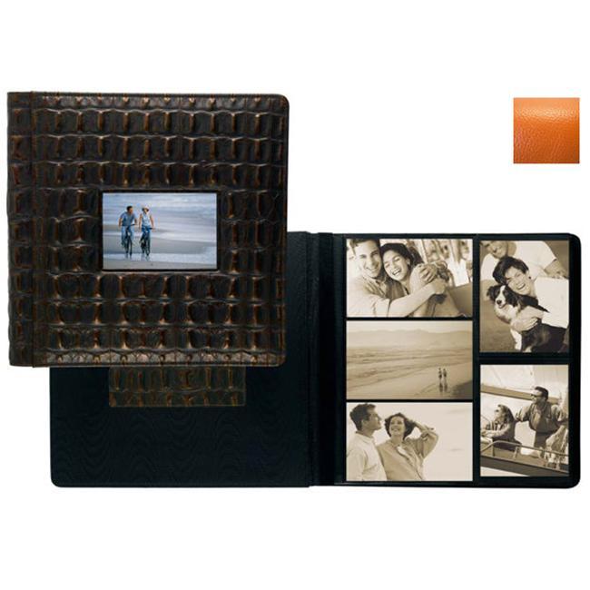 Raika RO 113 ORANGE Frame Front 4 x 6 Large Album - Orange