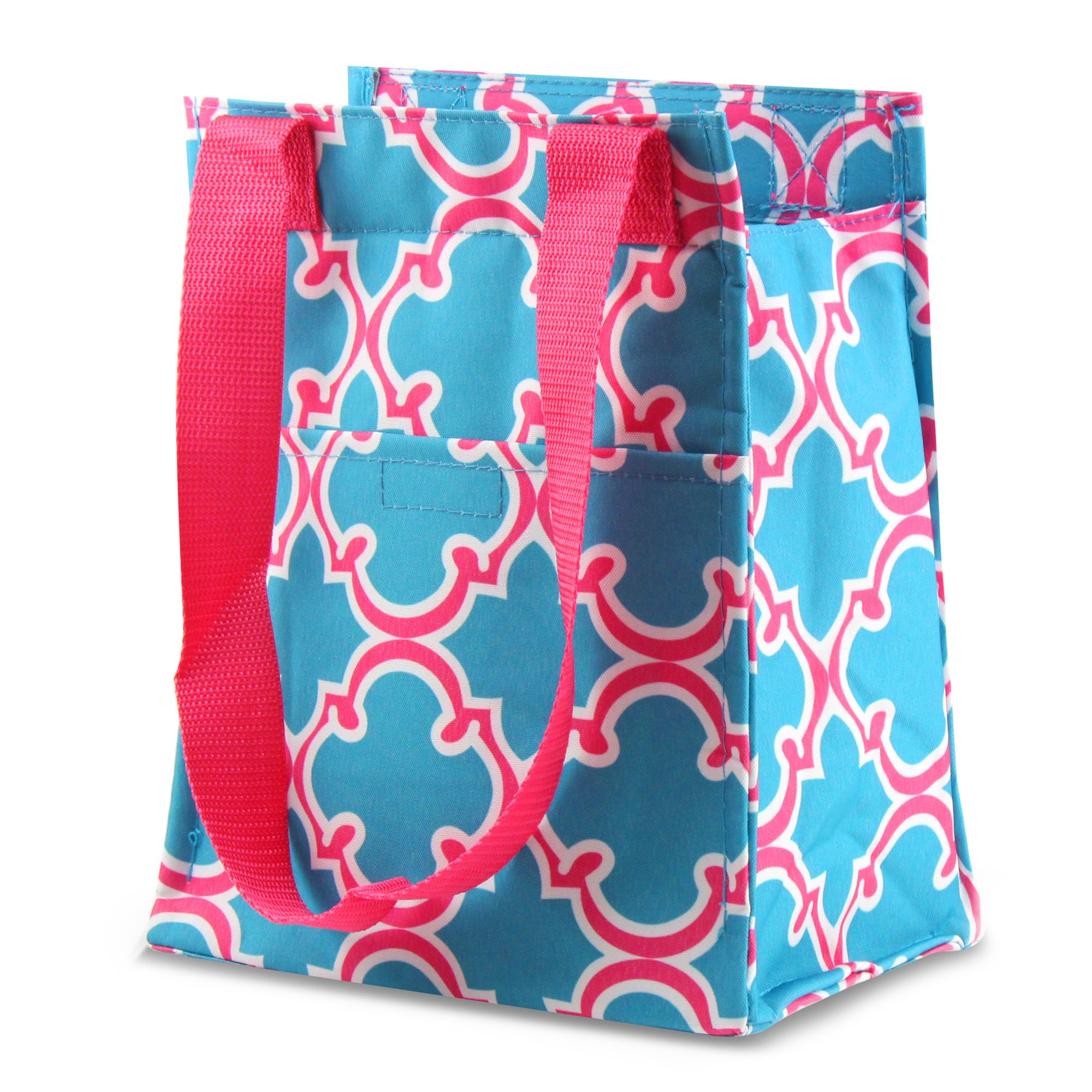 """Zodaca Leak Resistant Reusable Insulated Lunch Tote Carry Storage Organizer Zip Cooler Bag (Size: 11.5"""" x 6.5"""" x 9"""")"""
