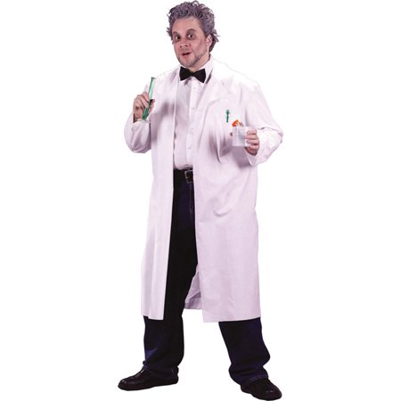 Morris Costumes Mad Scientist Lab Coat Adult Halloween Costume - One Size, Style, FW5428