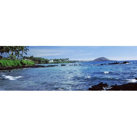 Waves in the pacific ocean Mokapu Beach Maui Hawaii USA Stretched Canvas - Panoramic Images (27 x 9)