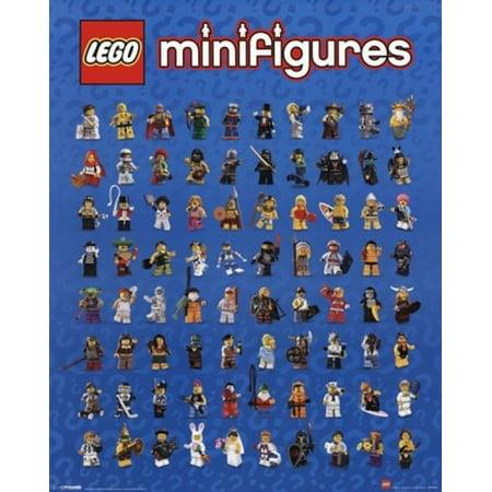 Lego - Mini Figures Poster Print (16 x 20) - Lego Decor