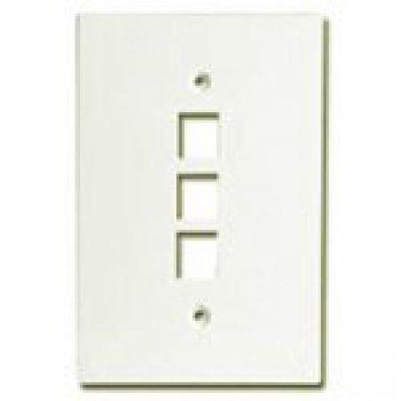 Channel Vision 3 Socket Oversized Faceplate - 3 x Socket(s) - 1-gang - Almond Channel Vision Wall Plate