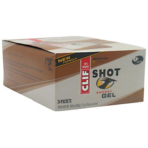 Clif Bar Shot Energy Gel - Mocha - 24-1.2 oz packets - (P...
