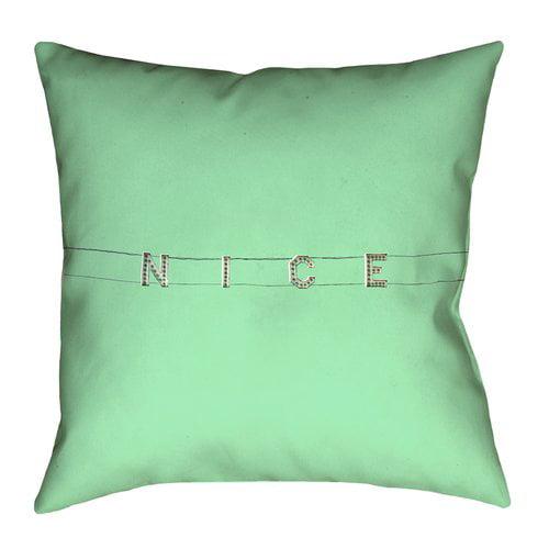 Latitude Run Hansard Nice Double Sided Print Pillow Cover