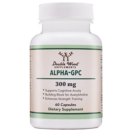 Alpha GPC Choline Supplement, Pharmaceutical Grade, Made in USA (60 Capsules (Pharmaceutical Grade Glucosamine)