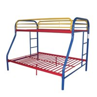 ACME Furniture Tritan Twin over Full Bunk Bed in Rainbow