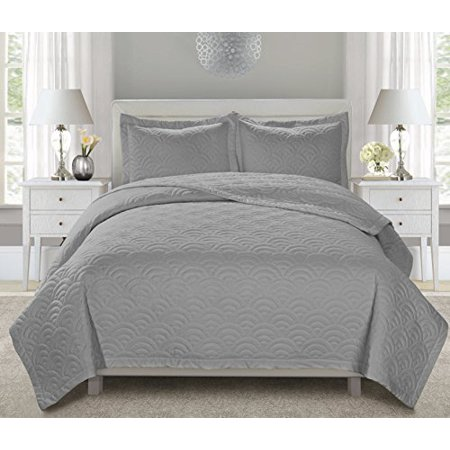 Unique home 3 piece shirley embroidered bed in a bag - Queen size bedroom sets clearance ...