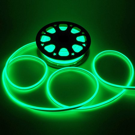 Neo Neon Rope Light (Yescom 50' Double Sided SMD2835 LED Flexible Neon Rope Light Green Holiday Christmas Decoration)
