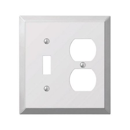 161TD 1 Toggle-1 Duplex Combo Polished Chrome Stamped Steel Wall Plate