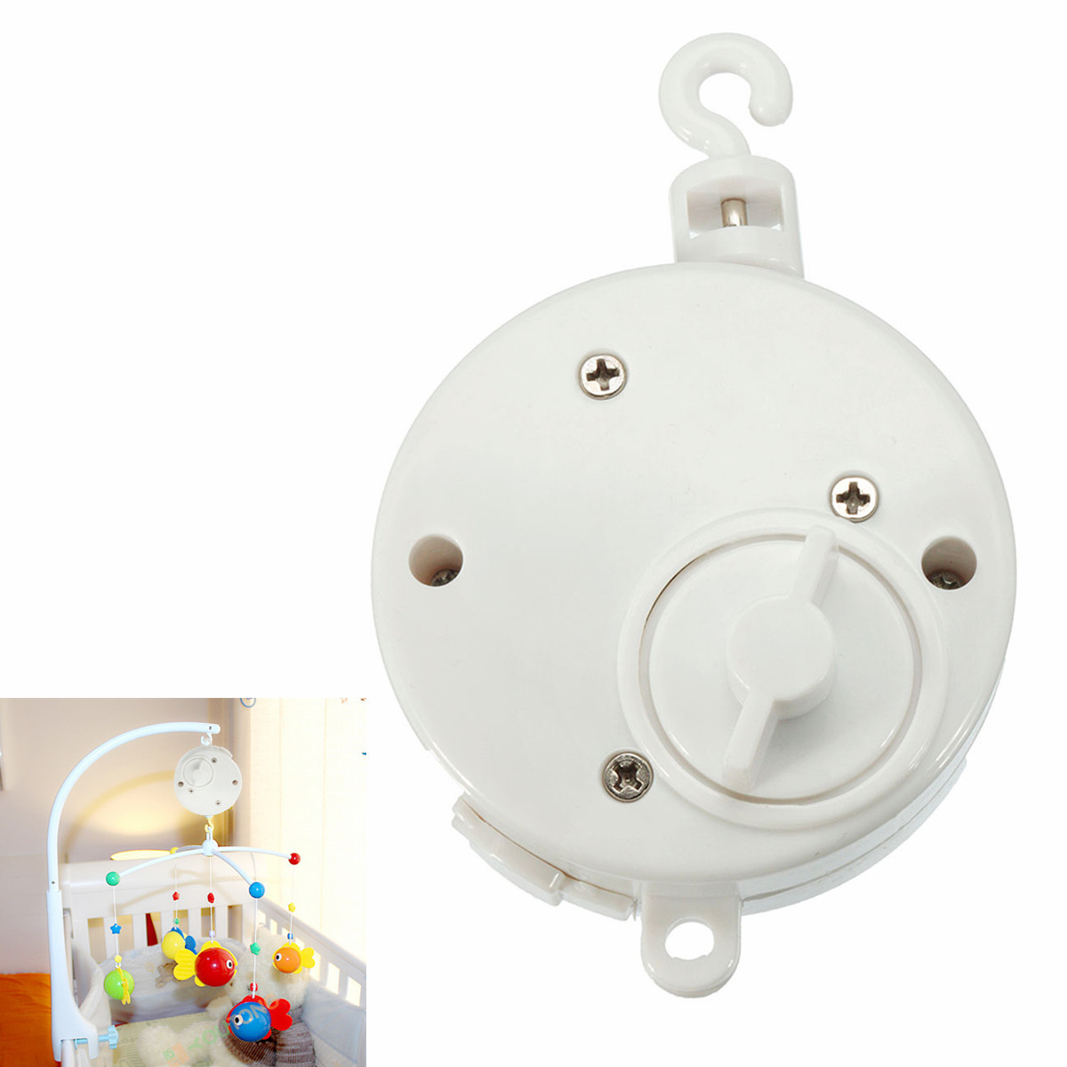 Click here to buy Baby Crib Bell Musical Mobile Plays Tunes Wind-up Music Box + Baby Crib Mobile Bed Bell Holder Arm Bracket....