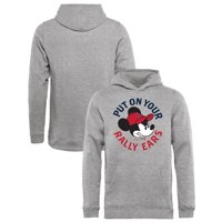 Los Angeles Angels Fanatics Branded Youth Disney Rally Ears Pullover Hoodie - Heathered Gray