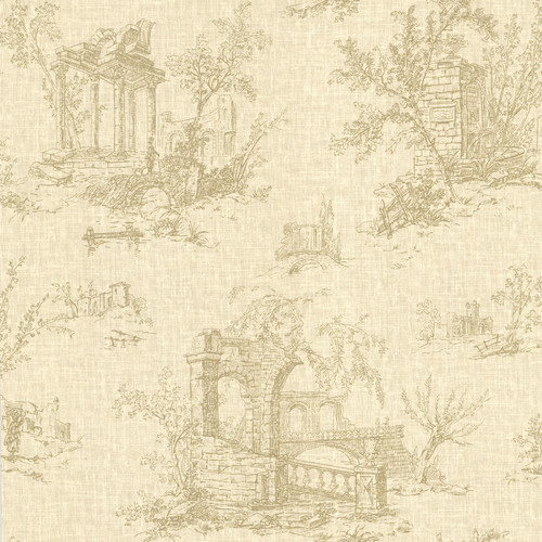 Brewster Home Fashions La Belle Maison Antiquity 33' x 20.5'' Toile 3D Embossed Wallpaper