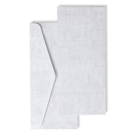 Ecru Lined Inner Envelopes (Gartner Studios Grey Linen Print #10 Envelopes, 20 count )