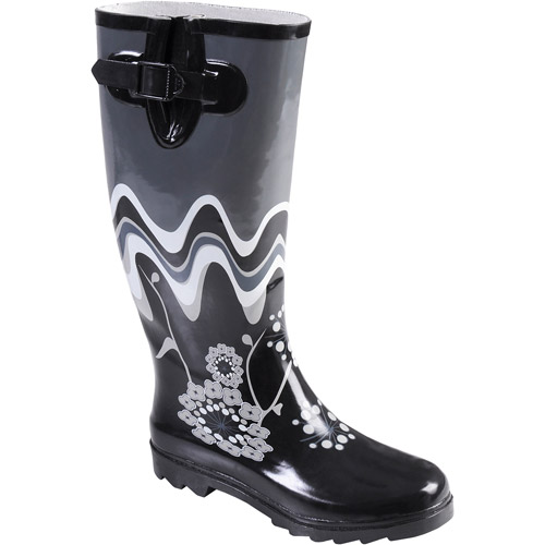 Brinley Co Women's Flower Print Rain Boo