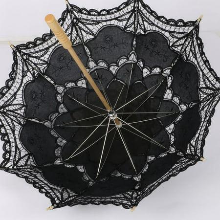 Joy Guru Vintage Handmade Lace Umbrellas For Bridesmaid Wedding Decoration Anti-uv Lace Umbrella Parasol Photo (Bridesmaid Parasols)