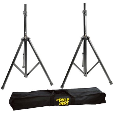 Pyle 2 Pack Heavy-Duty Aluminum Speaker Stand Kit 8Ft Height Traveling Bag (Pair)