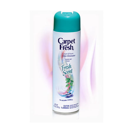 Carpet Fresh Quick Dry Foam Spray with Fresh Scent Fragrance, 10 Oz