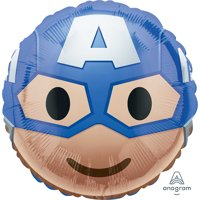 "Avengers Captain America Emoji Foil Balloon 18""(Each)"