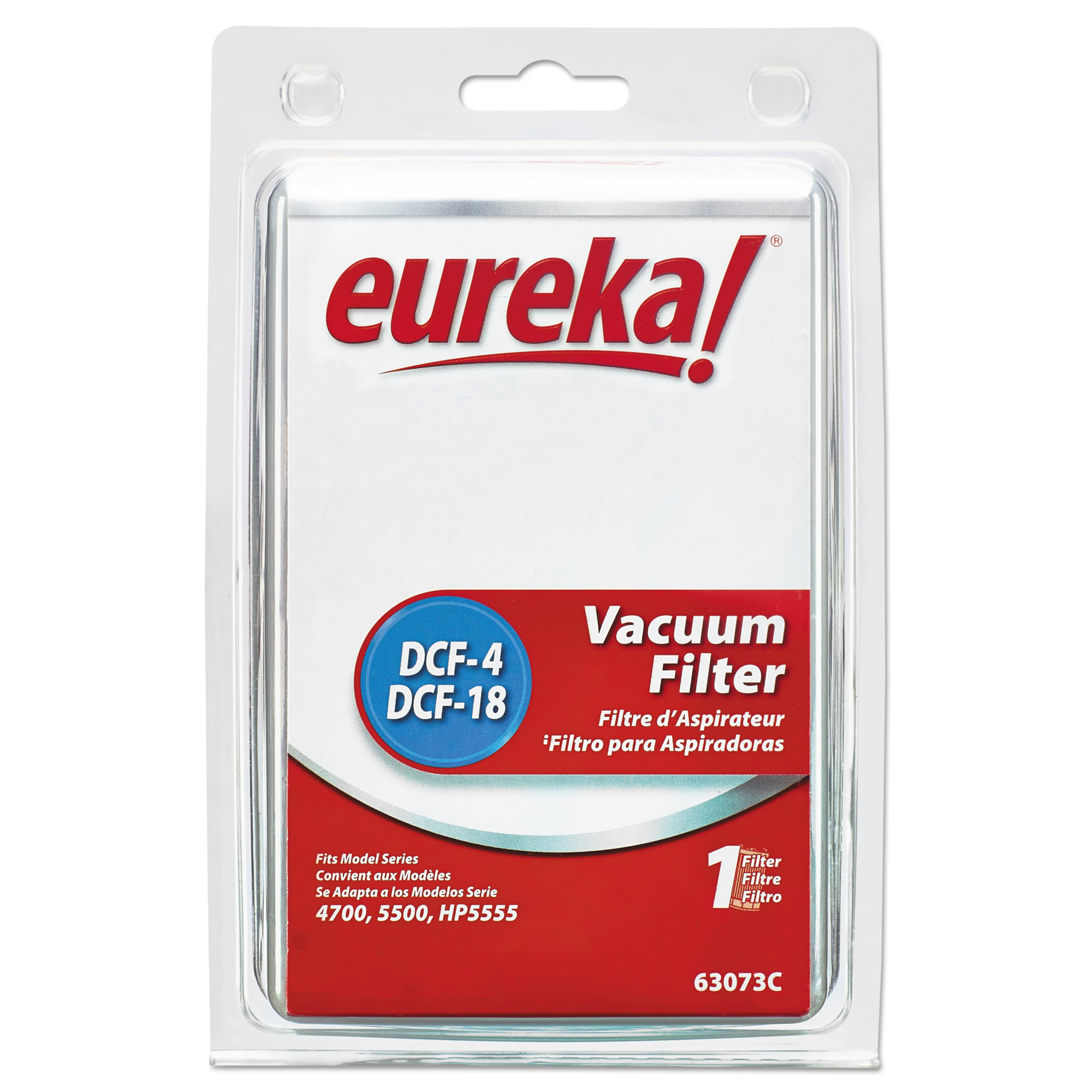 Eureka DCF-18 Washable Dust Cup Filter for 4700/5550/HP5550 Series Vacuums, 2/CS