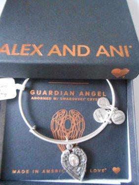 Path of Symbols Guardian Angel Expandable Wire Bangle Charm Bracelet
